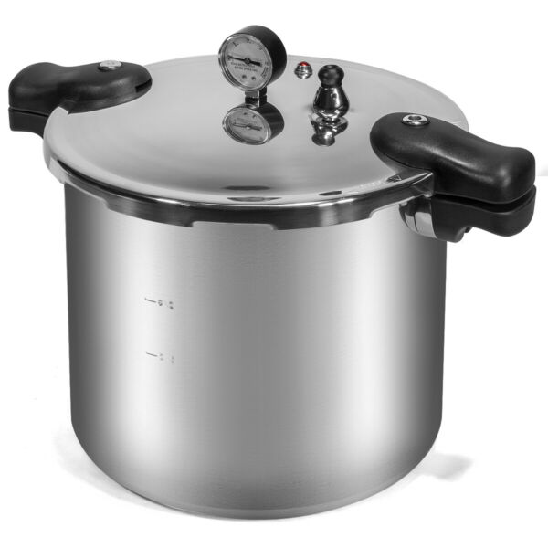 22 Quart Pressure Cooker Canner Dial Gauge Compatible on Gas or Electric Stove