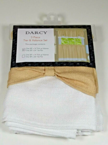Achim Home Furnishings Darcy 3 Piece Tier & Valance Set 58