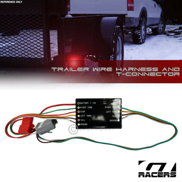 For 2008 2019 Toyota Highlander Trailer Hitch 4 Way Wire Harness T Connector Kit $31.00