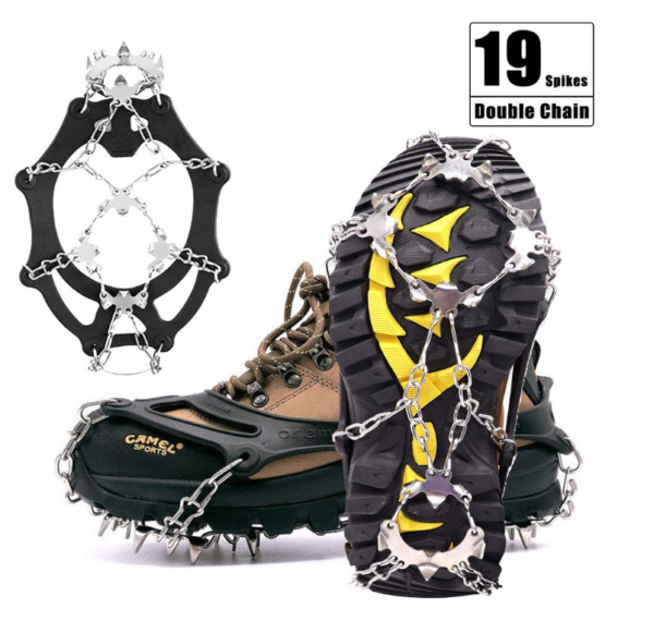 19 Spikes Crampons Hiking Boots Shoes Stainless Steel Ice Snow Cleats Spike ML