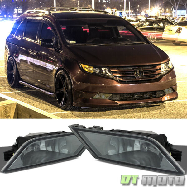 For Smoked 2011 2013 Honda Odyssey Bumper Driving Fog Lights Switch LeftRight $59.99