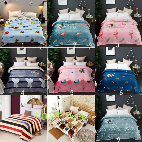 Comfortable Cloud Blanket Bedding Sofa Throws Winter Warm Sheets Multicolor Gift