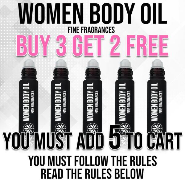 Women Body Oils Variety Top Quality Roll-On Huge Discount Perfume Pure Uncut