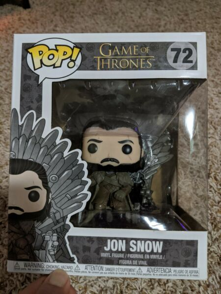 Game of Thrones JOHN SNOW #72 Sitting on Throne Deluxe FUNKO Pop