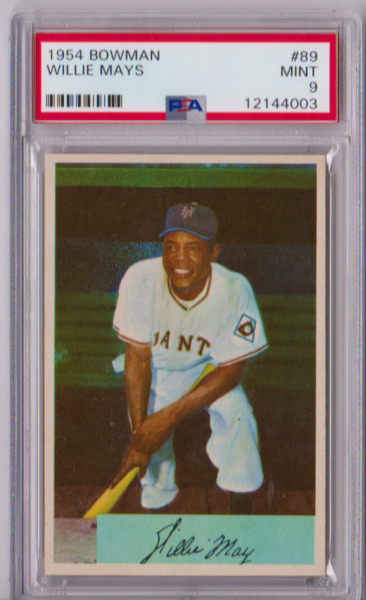 1954 Bowman Willie Mays #89 PSA 9 P628