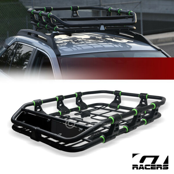 Modular HD Steel Roof Rack Basket Travel Storage Carrier w Fairing Matte Blk G33 $185.00