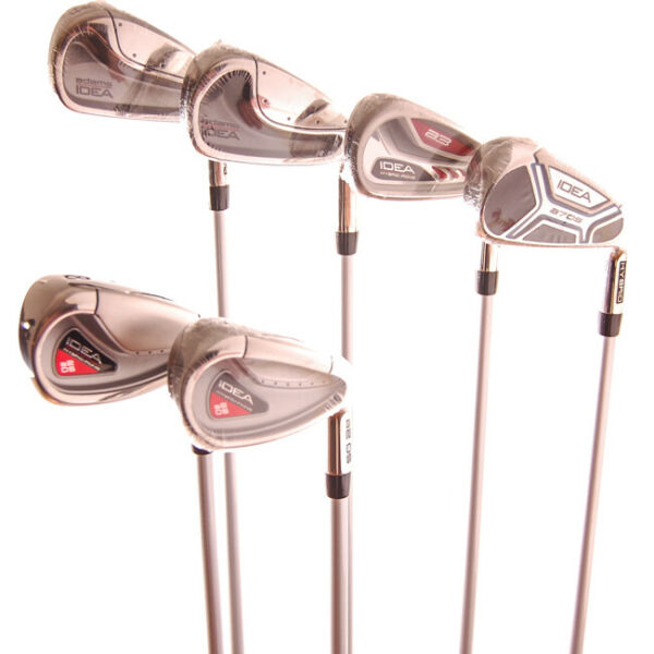 New Adams Idea Mixed Iron Set 4-9 No PW Aldila Ladies Flex Graphite RH