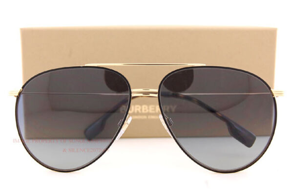 Brand New Burberry Sunglasses BE 3108 10174L Black Gold Grey Gradient For Men $165.99