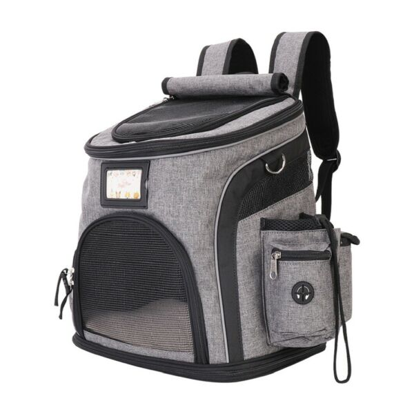 Dog Bag Ventilated Backpack Large Cat Carrying Bag Portable Outdoor Pet Carrier $33.91