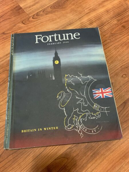 Vintage February 1946 Fortune Magazine Britain In Winter Ads Art