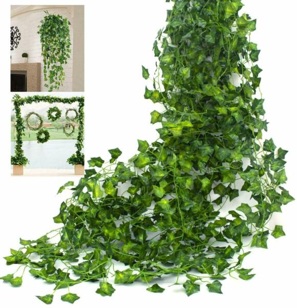6x Artificial Ivy Leaf Plants Fake Hanging Garland Plant Vine Foliage Home Decor