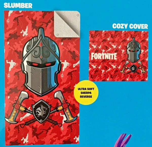 Fortnite 2-In-1 Slumber Bag Cozy Cover Blanket 60