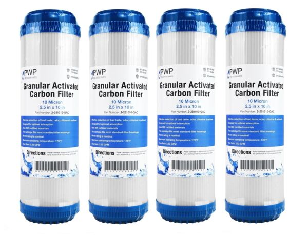 Granular Activated Carbon Water Filter Cartridge Standard 2.5 x10quot; 10 Micron 4