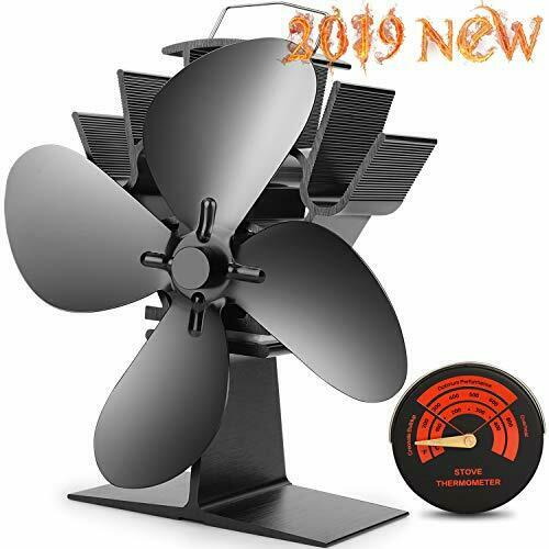Heat Powered Stove Fan Upgrade Designed Silent Operation 4 Blades Comfortable
