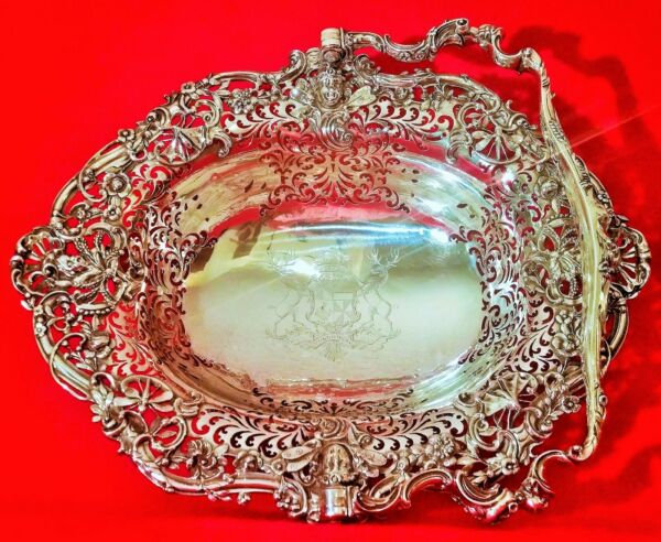THE BREADALBANE BASKET taymouth castle scotland vtg antique london insect bowl