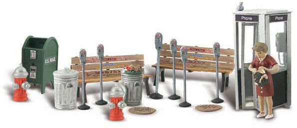 Woodland Scenics O Scale Scenic Accents Figures People Set Street Accessories $21.99