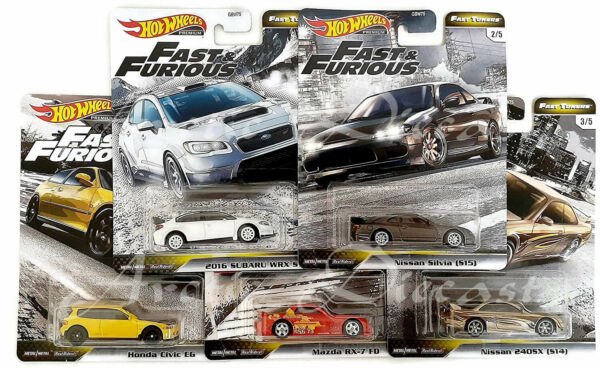 Hot Wheels Premium 2020 - Fast & Furious Fast Tuner Set of 5 Silvia RX-7 240SX