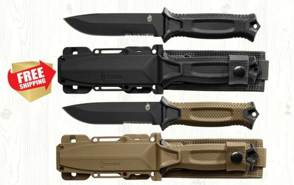 Gerber StrongArm Fixed Blade Fine Edge Knife - Free Shipping