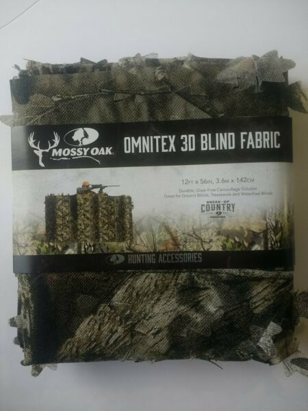 Mossy Oak Omnitex 3D Camo Blind Netting Break Up Country 12ft x 56in Hunting NEW