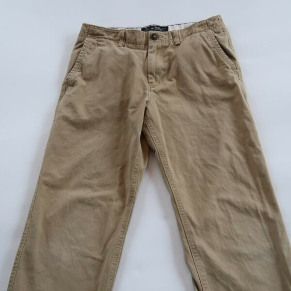 American Eagle Mens Relaxed Straight Khaki Chino Pants Tag 30x32 Measured 32x30
