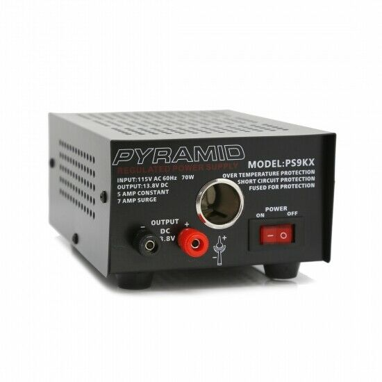 Pyramid PS9KX Bench Power Supply AC-to-DC Power Converter with car Power Outlet