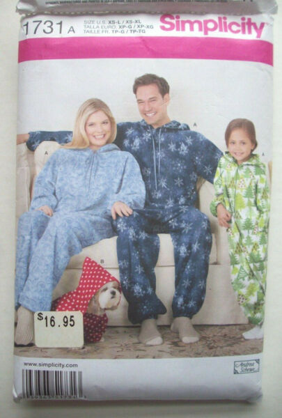 Jumpsuit sleepwear for family amp; Dog pattern 1731 size child teen adult uncut $8.99