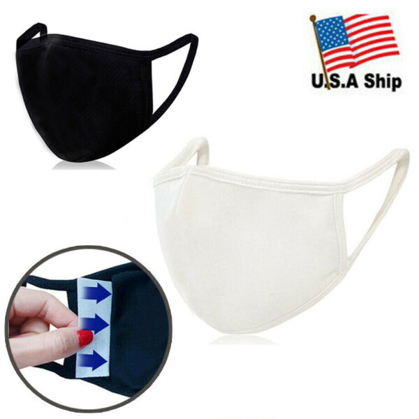 3D Face Mask with Filter Pocket  100% Organic Cotton  Reusable  Washable 1EA