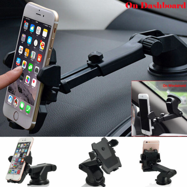 For Mobile Cell Phone GPS iPhone Samsung 360° Mount Holder Car Windshield Stand $6.99