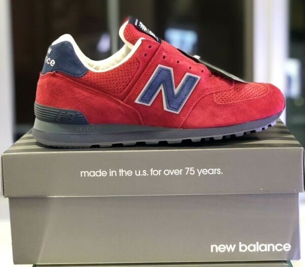 NEW BALANCE 574 RED/BLUE SIZE 10 MADE IN USA NEW WITH BOX RARE (US574XAD)