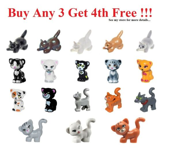 ☀️NEW Lego PICK YOUR CAT ANIMAL Lot Friends Kitten Pets Farm Ranch Outdoor Parts $1.99