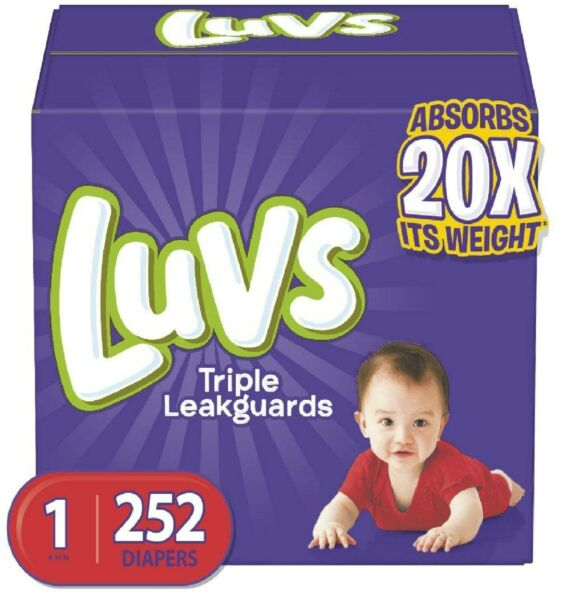 Diapers Newborn Size 1 252 Count Luvs Ultra Leakguards Disposable Baby Diap $39.99