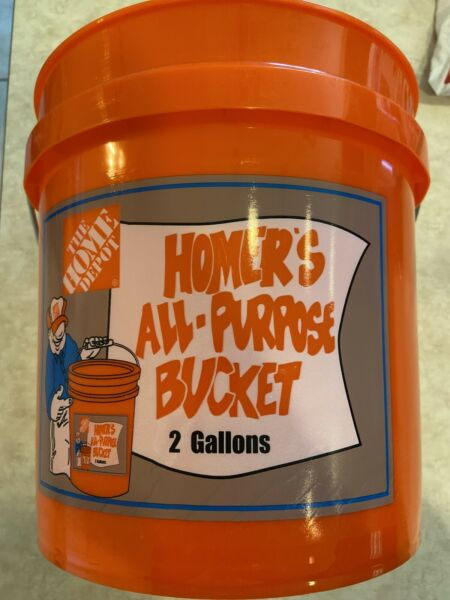 2 Gallon Bucket Home Depot Homer Plastic Utility Orange Pail Heavy Duty Car