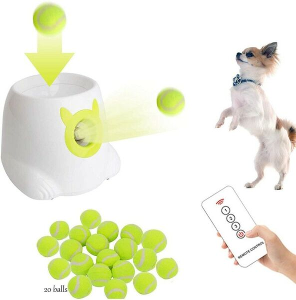 NEW Happets Automatic Tennis Ball Launcher Throwing Machine Dogs Pets Trainer