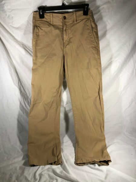 American Eagle Khaki Pants Mens 29x32 Relaxed Straight Extreme Flex
