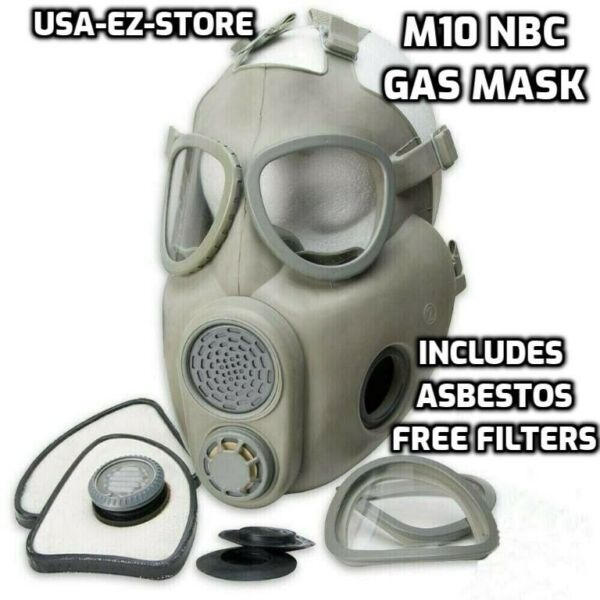 🔥Premium Gas Mask Czech Military M10 NBC Respirator Filters Full Face Coverage $38.73