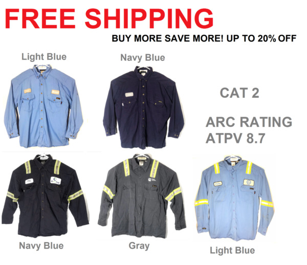 Flame Resistant Work Shirts Workrite HRC CAT 2 Collared Westex UltraSoft FR $15.99