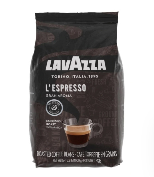 Lavazza L#x27;Espresso Gran Aroma Whole Bean Coffee 2.2lbs BB 06 30 2021