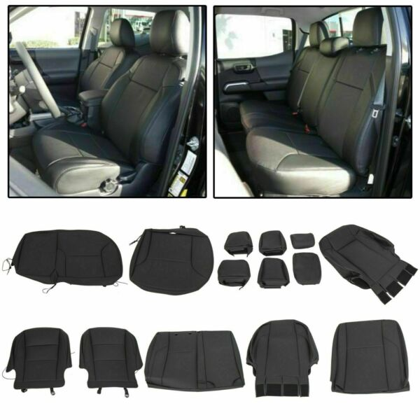 For 2016+ Toyota Tacoma Double Cab Leather Seat Covers
