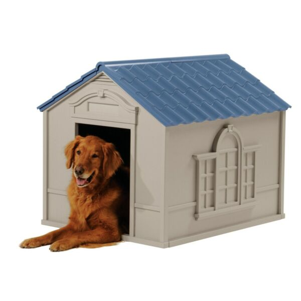 XL DOG KENNEL FOR LARGE DOGS OUTDOOR PET INSULATED CABIN HOUSE BIG SHELTER $82.64