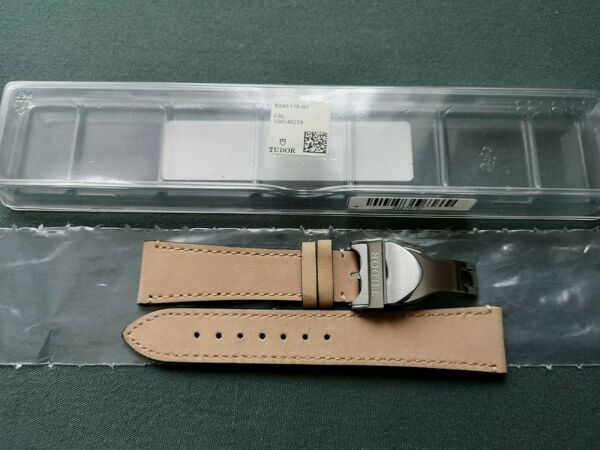Tudor Genuine Brown Suede Leather Strap for Black Bay Watch 22mm With Clasp