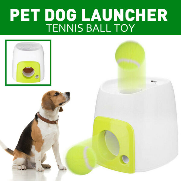 Pet Dog Tennis Ball Launcher Thrower Toy Automatic Interactive Fetch Chucker $43.99