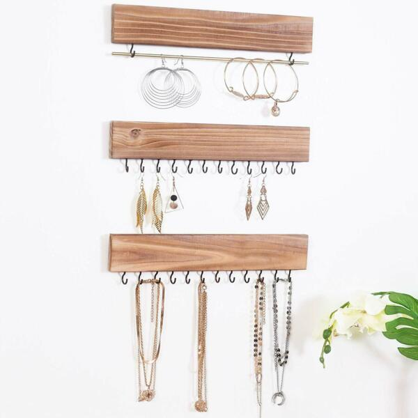 Jewelry Organizers,Necklace Holder,Wall Mounted Storage Rack,Displayer