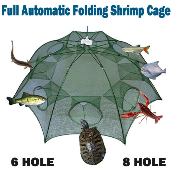 Magic Fishing Trap Automatic Folding Cast Cage Crab Fish Lobster Net Rivers Lake $9.99