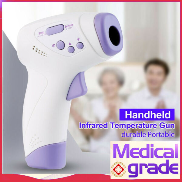 Non-Contact Infrared LCD Digital Forehead Baby  Adult Body Temp Thermometer A++