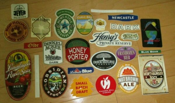 25 BEER STICKER PACK LOT decal craft beer brewing brewery tap handle B0