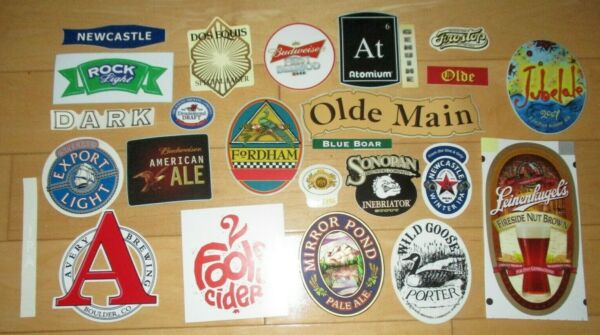 25 BEER STICKER PACK LOT decal craft beer brewing brewery tap handle F