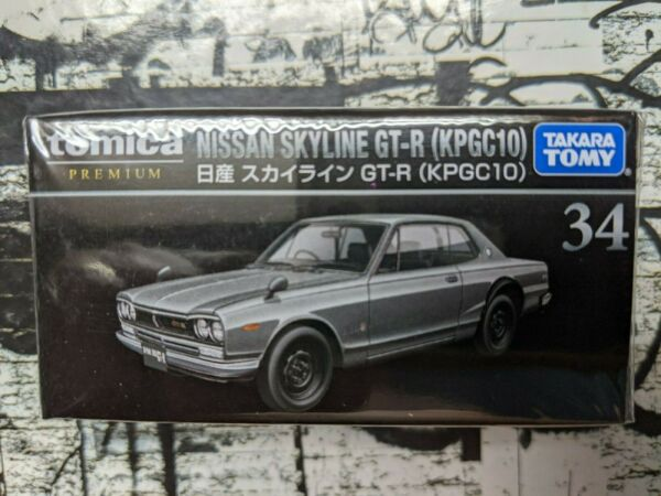 TOMICA PREMIUM #34 NISSAN SKYLINE GT R KPGC10 1 61 SCALE NEW IN BOX