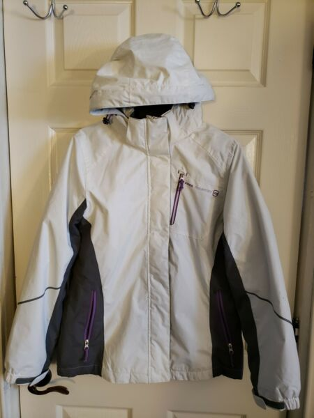RADIANCE FREE COUNTRY Quilted Insulated White Hooded Jacket Women#x27;s Size S Tall $35.00