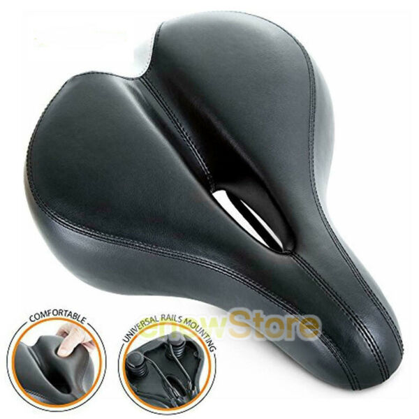 Most Comfortable Bike Seat for Women Padded Bicycle Saddle with Soft Cushion $16.69