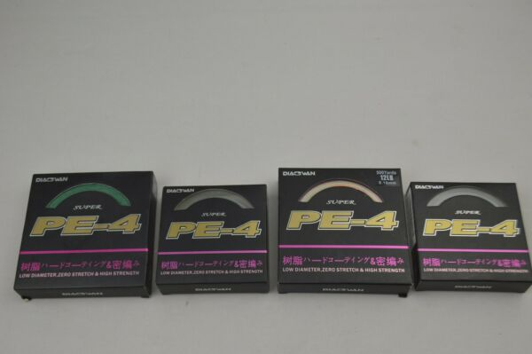 Pack of 4 Mixed Super PE 4 125 Yards 8lb 70lb 500 Yards 12lb See Details .12 .16